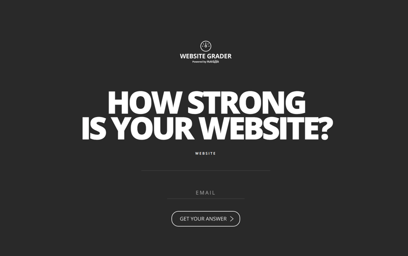 HubSpot Website Grader is one of the earliest tools