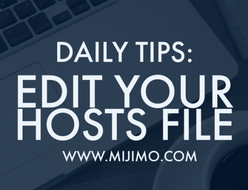 How to edit your hosts file on a MAC